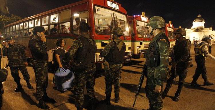 Thailand avondklok staatsgreep
