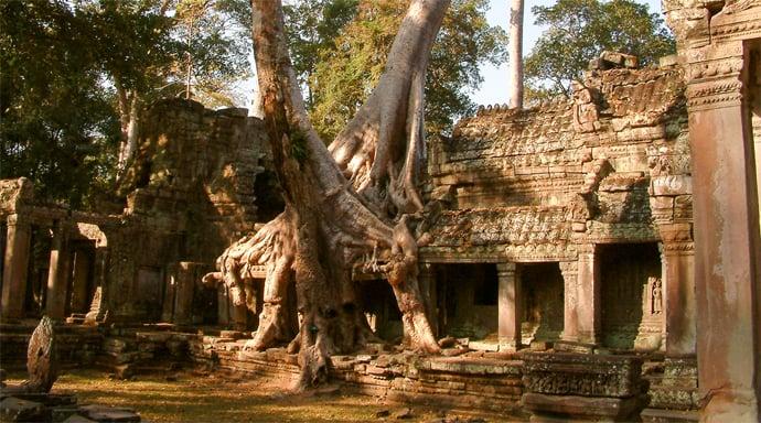 Wat Preah Khan bij Angkor Wat