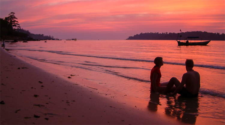 Zonsondergang Victory Beach Sihanoukville