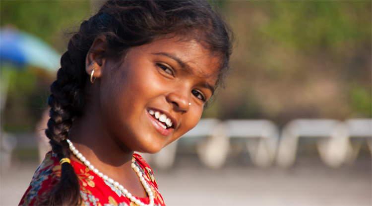 Meisje strand Arambol Goa