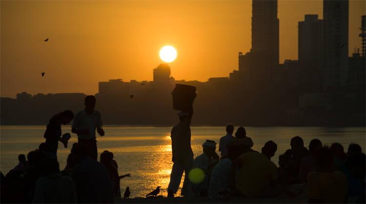 Chowpatty beach zonsondergang