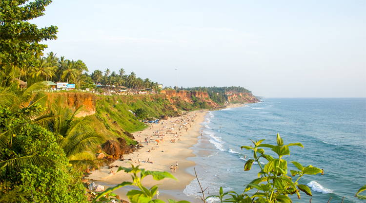 Papanasam Beach Varkala in Kerala India
