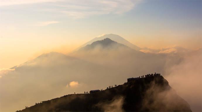 Vulkaan Gunung Batur op Bali beklimmen