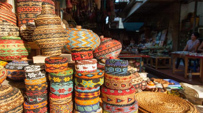 Art market in Ubud op Bali