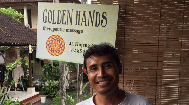 Dewa van Golden Hands Massage Ubud