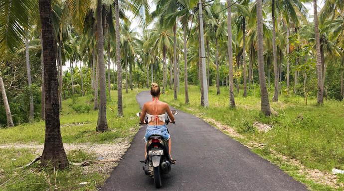 Nusa Lembongan verkennen op de scooter