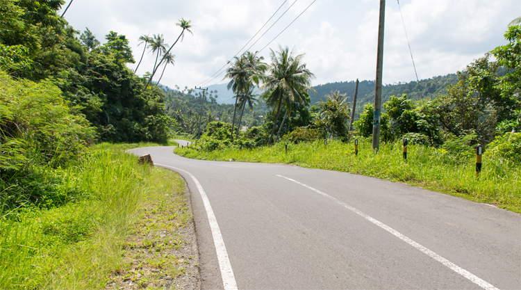 Jungle weg op Pulau Weh bij Sumatra