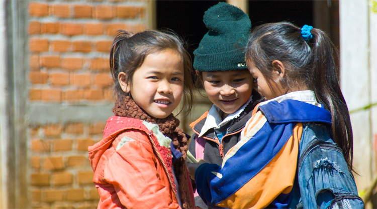 Kinderen op het Bolaven Plateau in Laos