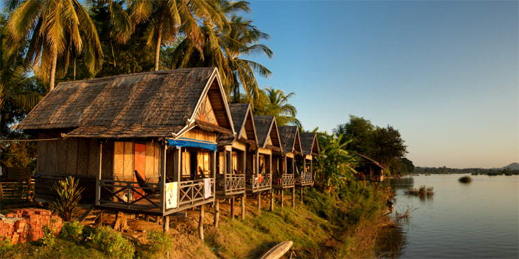 Sunset Huts op Don Det in Laos