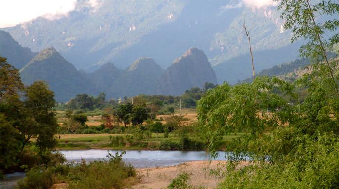 Vang Vieng vallei