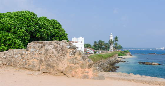 Vuurtoren in Galleop Sri Lanka