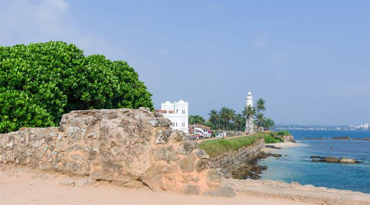 Vuurtoren Galle op Sri Lanka