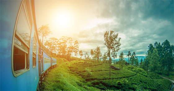 Trein van Ella naar Kandy