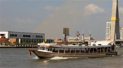 Varende Chao Phraya River express boot
