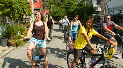 Deelnemers fietstocht bangkok, fietstocht Co van Kessel