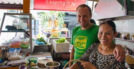Kokkerellen in Bangkok