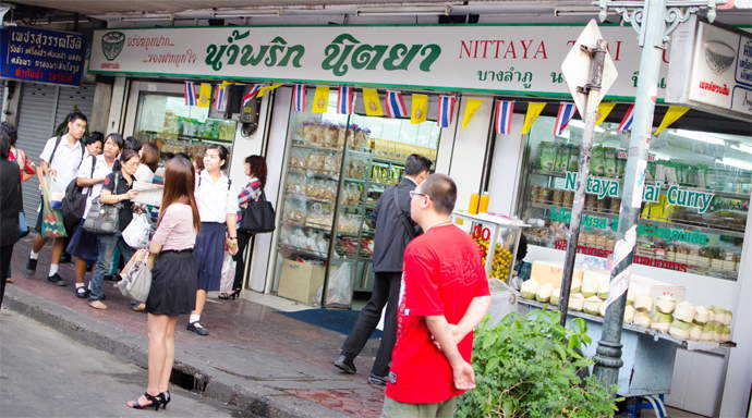 Nittaya Thai Curry shop Bangkok