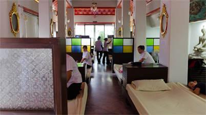 Binnenzijde massage paviljoen, Wat Po