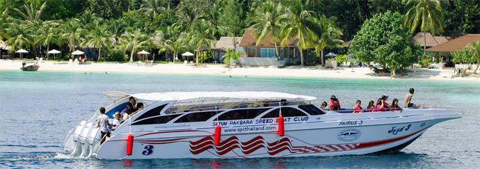 Eilandhoppen Thailand Satun Pakbara Speed Boat Club Andaman Zee