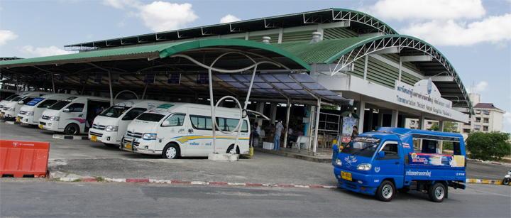 Minibus station Hat Yai Thailand