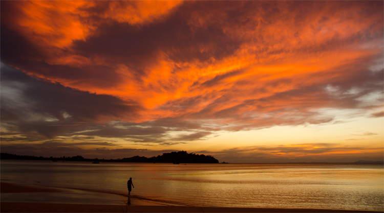 Zonsondergang op Koh Phayam