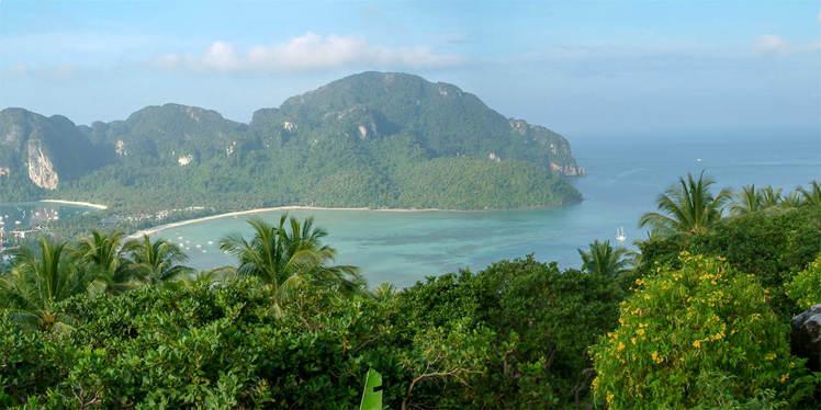 Viewpoint op Koh Phi Phi in Thailand
