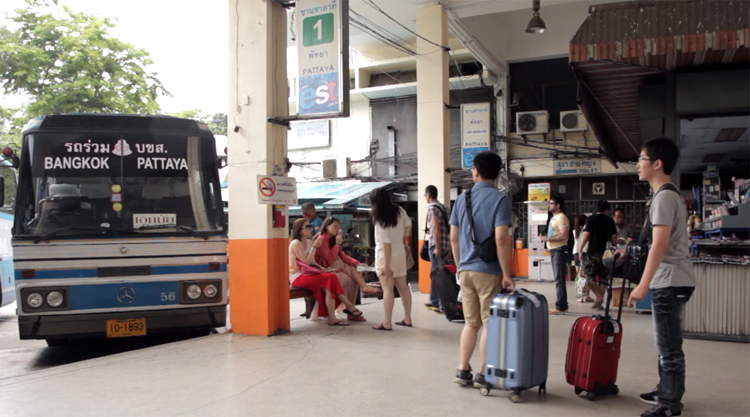Busstation in Thailand