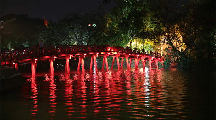 The Red Bridge in Hanoi