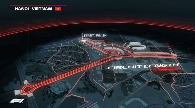 Formule 1 stratencircuit in Hanoi Vietnam