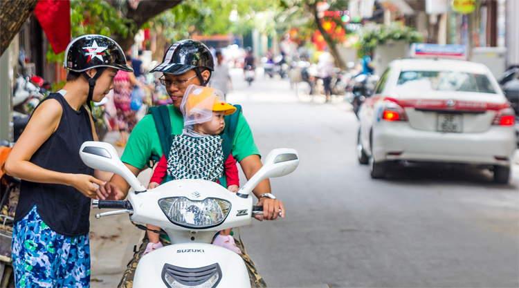 Scooters in Hanoi Vietnam