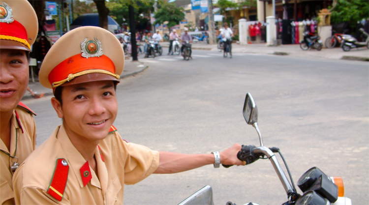 Agenten in Hoi An in Vietnam